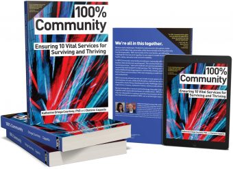 100-percent-Community-3d-book-stacks-with-tablet
